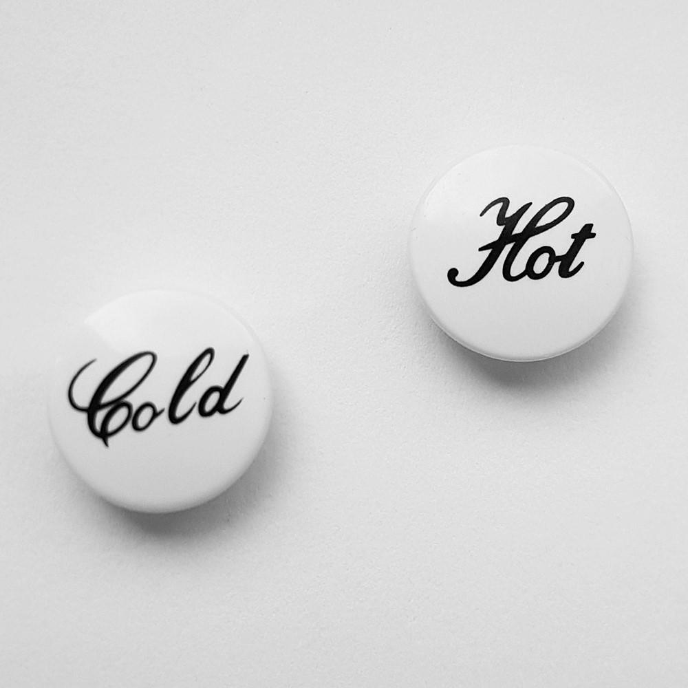 Hot & Cold Tap Indices Push-In Insert Indicators